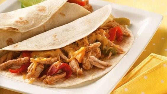 pulled pork fajitas