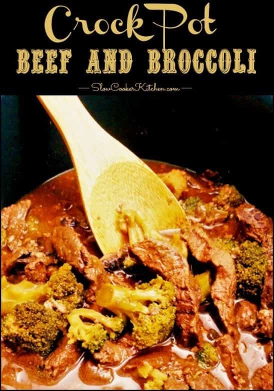 Crock Pot Beef and Broccoli