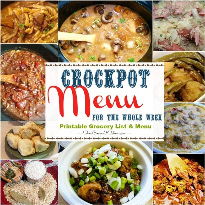 Crockpot Meals For The Week #1