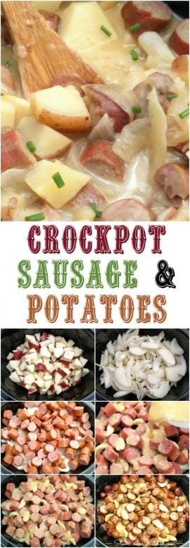 crock pot sausage and potatoes