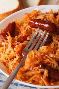barbecue sauerkraut and sausage