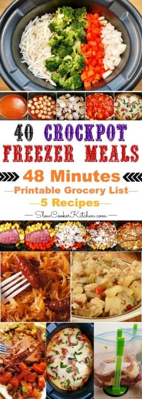 Easy Crock Pot Freezer Meals Cooking Session
