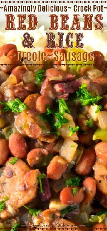 Slow Cooker Red Beans and Rice with Sausage