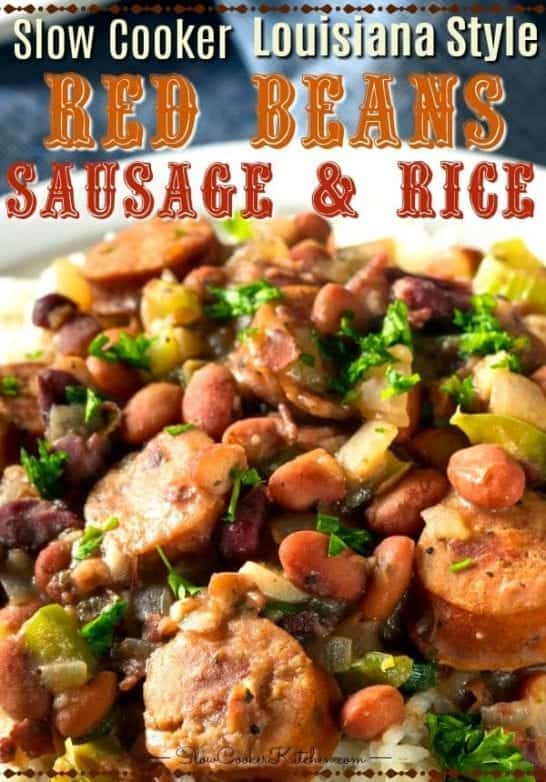 Crock Pot Red Beans and Rice with Sausage & Ham