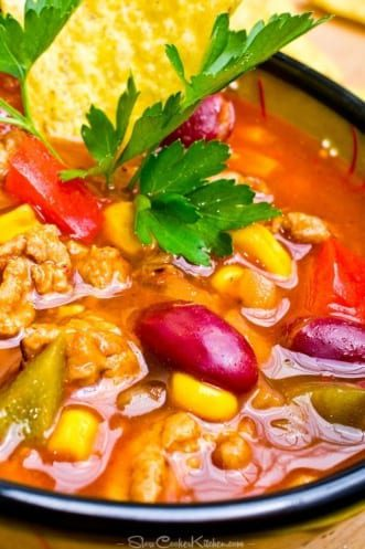 Freezer Friendly Crock Pot Taco Soup