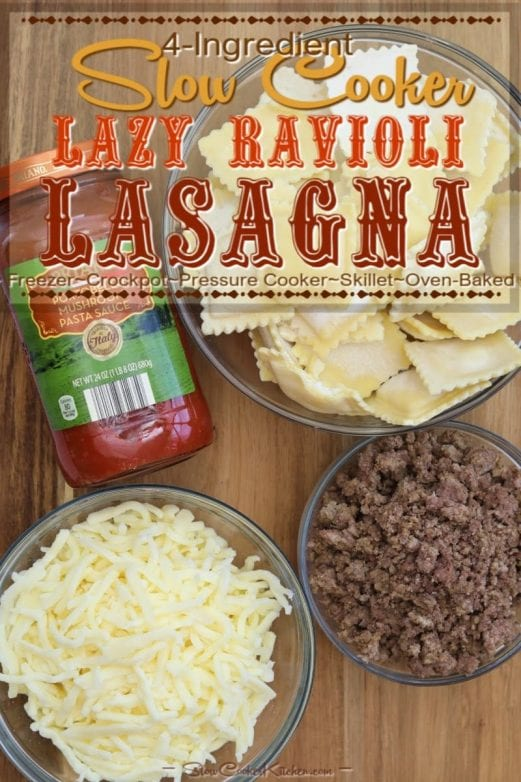 ingredients for easy ravioli lasagna